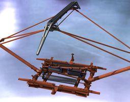 The pantograph of electric locomotive 3D