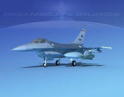 3D Gen Dyn F-16A Falcon V09 USAF