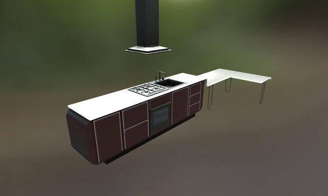kitchen 3d model obj mtl fbx tga 1