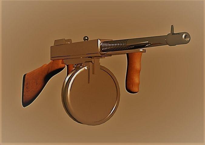 1e8d06fd0784 thompson submachine gun 3d model max obj mtl 3ds fbx 1 ...