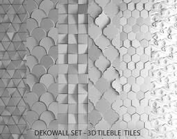 Deko Wall Set Tilable tiles 3D