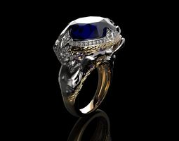 Atlantis Ring 3D print model