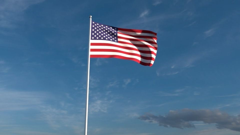 north american flags 3d cgtrader