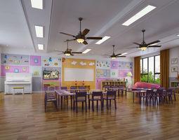 3D model Kindergarten Classroom