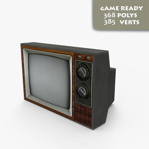 Old TV 3D Model VR / AR Ready