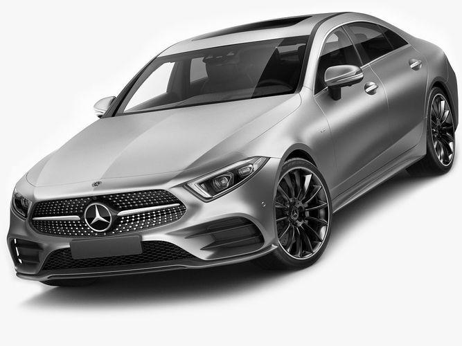 3d model mercedes benz cls 2018 amg line cgtrader for Mercedes benz 2018 models