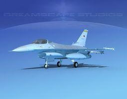 Gen Dyn F-16A Falcon Turkey 3D