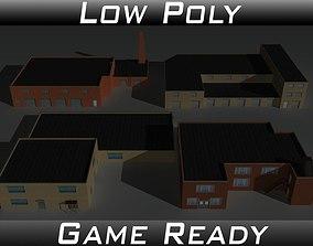 Factory Building Set 9 3D model