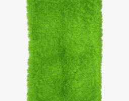 Mongolian fur rug green 3D
