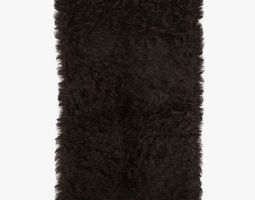 Mongolian fur rug brown 3D