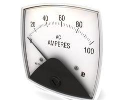 3D model Vintage DC ammeter 05