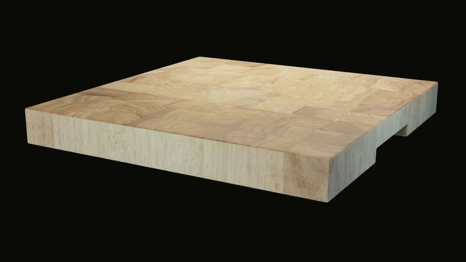 Hard Wooden Cutting Board For General Food D Model - Restaurant prep table cutting boards