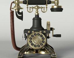 3D PBR Vintage Telephone