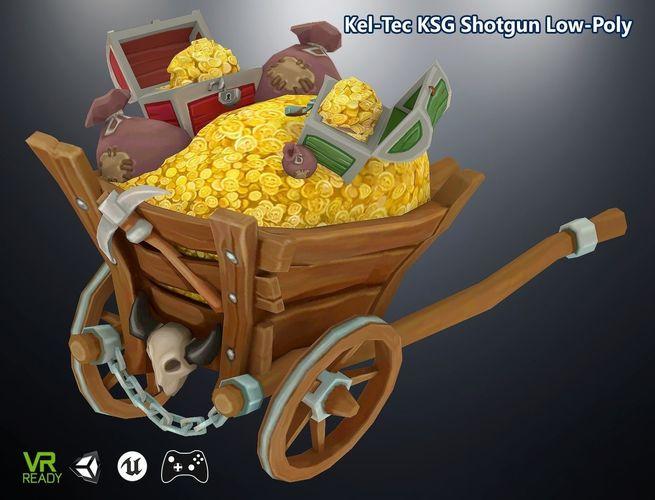 gold coin stash buggy 3d model max obj mtl 3ds fbx 1