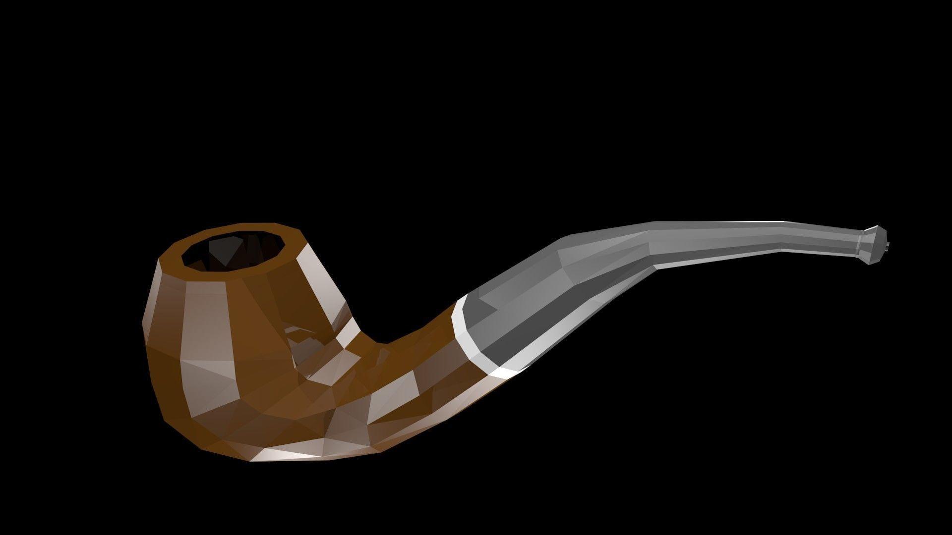 Low poly smoking pipe | 3D model