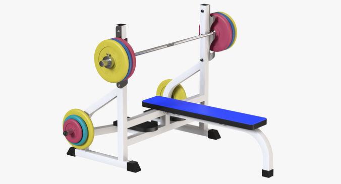 weight bench 3d model obj mtl fbx blend 1