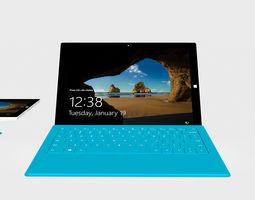 tablet 3D model Microsoft Surface Pro 3 Tablet