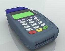 Credit Card Swipe Machine 3D model