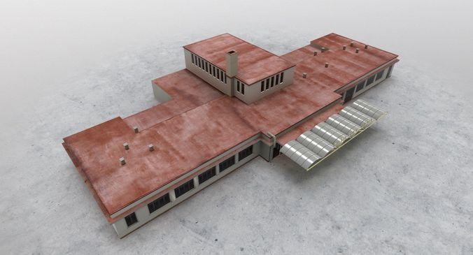 lkkv old terminal 3d model low-poly max obj 3ds fbx mtl 1