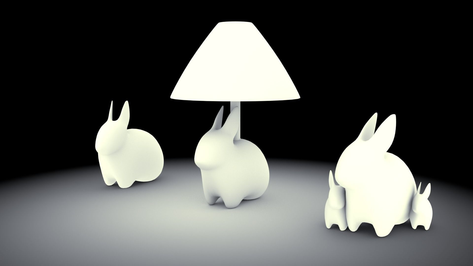 Porcelain rabbit table lamp 3d model cgtrader porcelain rabbit table lamp 3d model low poly obj 3ds fbx blend 3 aloadofball Image collections
