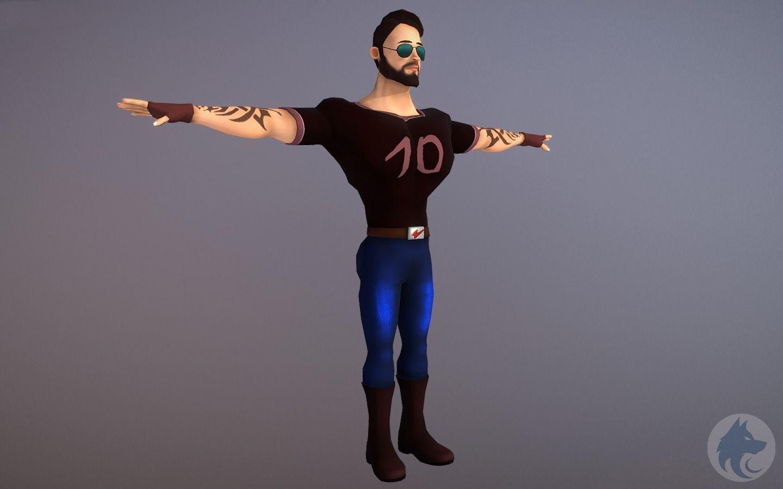 Character Model Jony