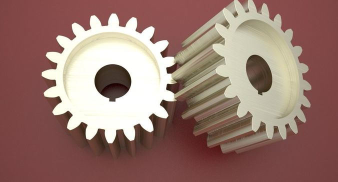 original size gear wheel with 20 tooth modul 5mm ready for print 3d model max obj mtl 3ds fbx stl dae 1