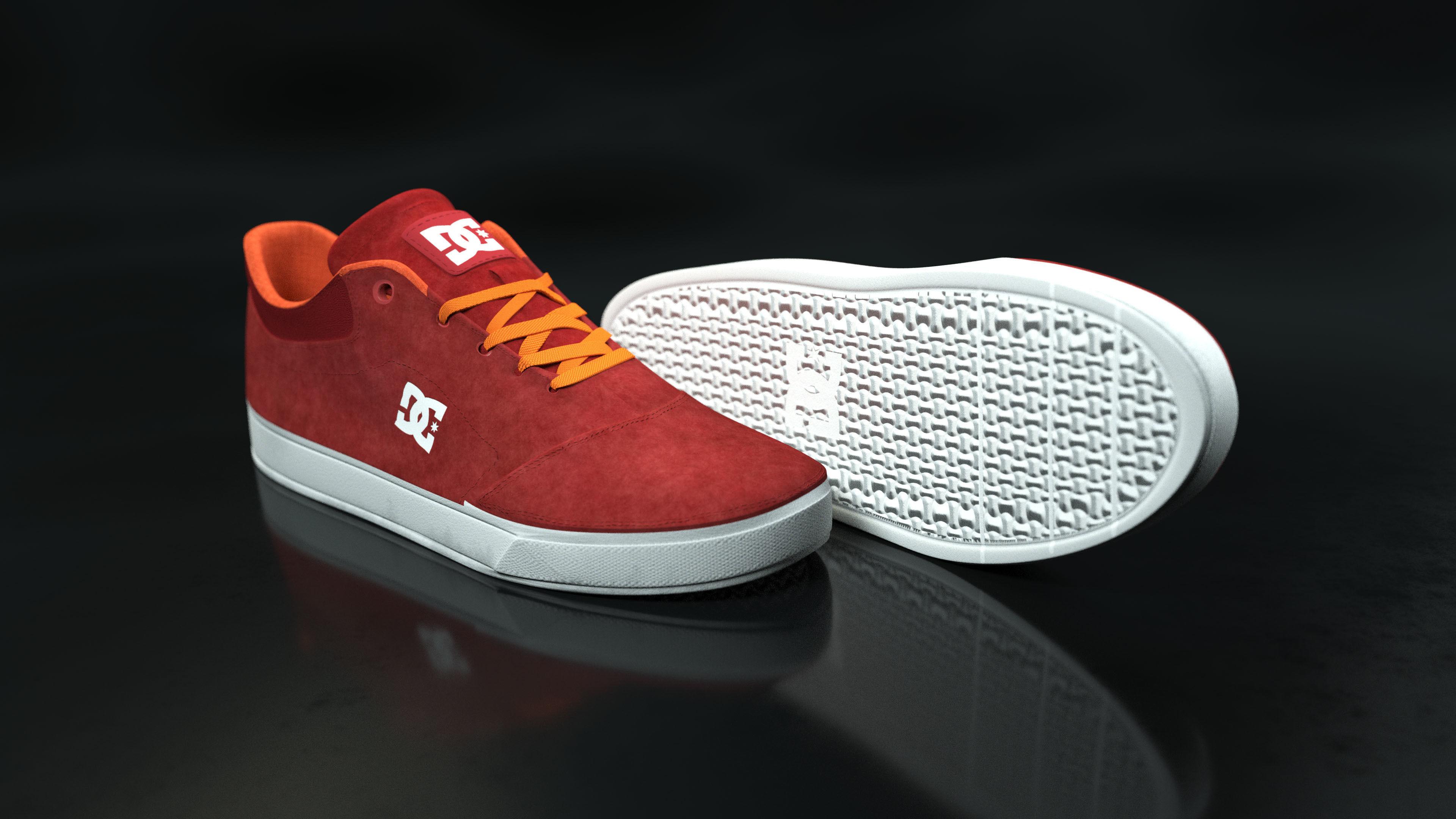 DC Shoes Crisis - Orange-Red