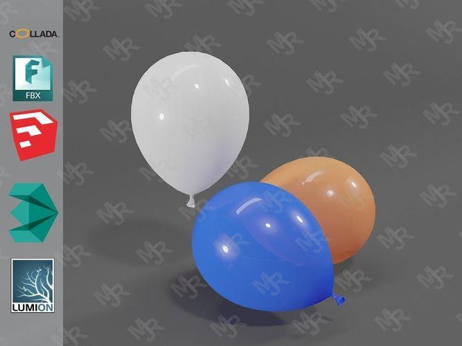 balloons 3d model max obj mtl 3ds fbx dae skp 1