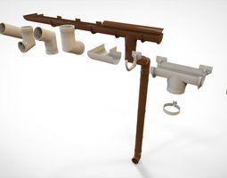 Gutter drainpipe 3D