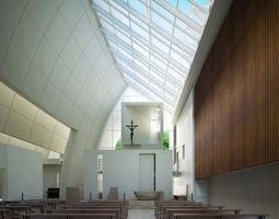 3D model Church Interior with Skylight