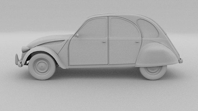 citroen 2cv 3d model free