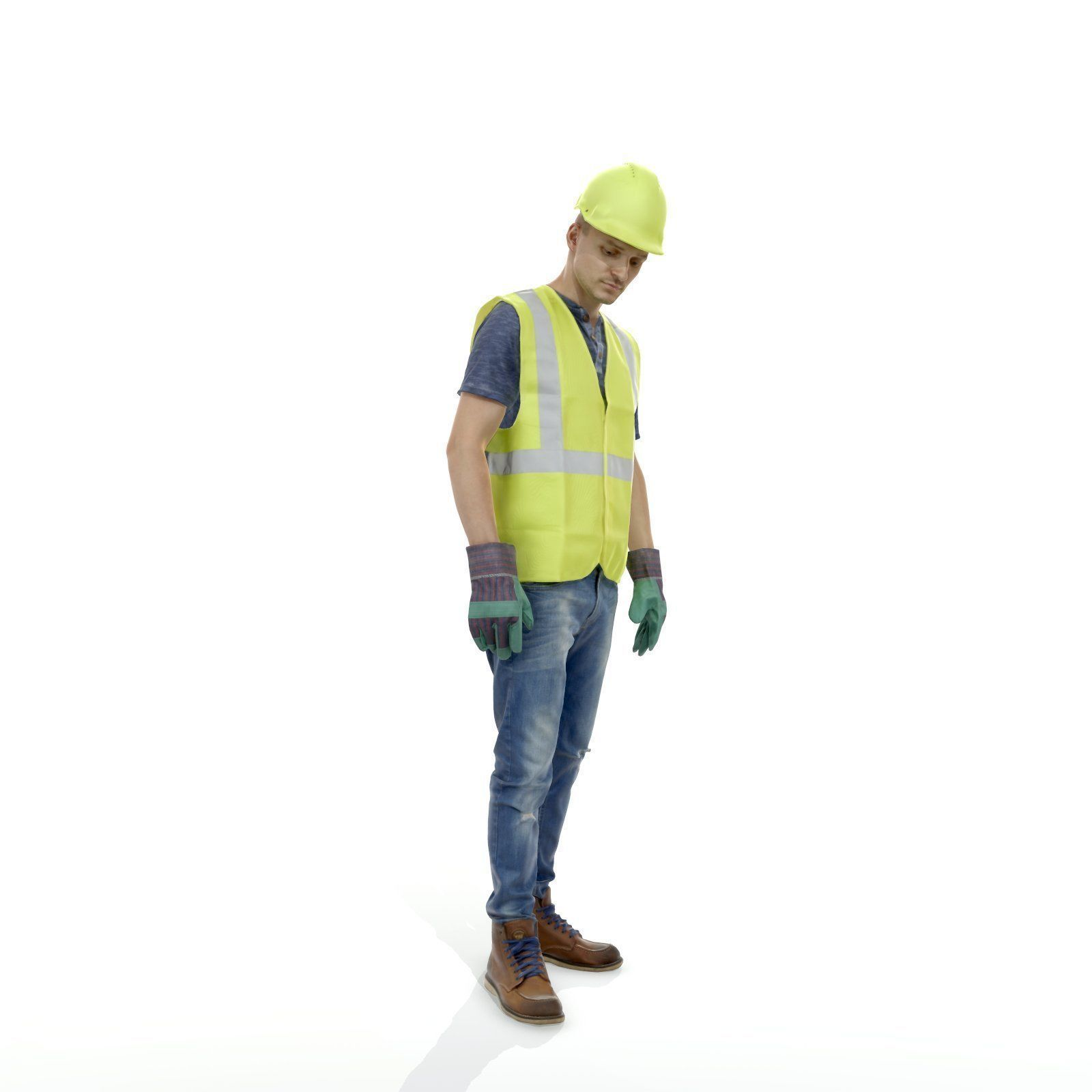 Ready-Posed 3D Construction Workers MeMsS025HD2