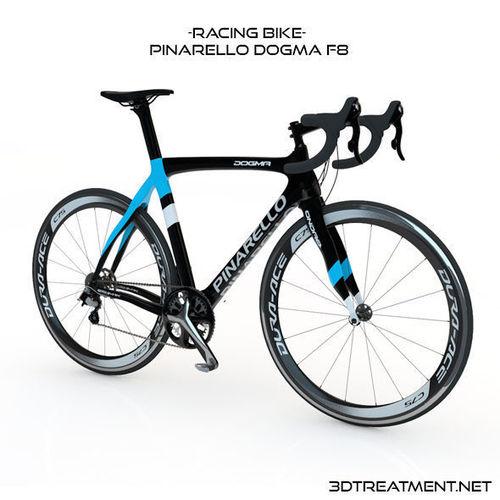 racing bike pinarello dogma f8 3d model obj 3ds fbx c4d dxf 1
