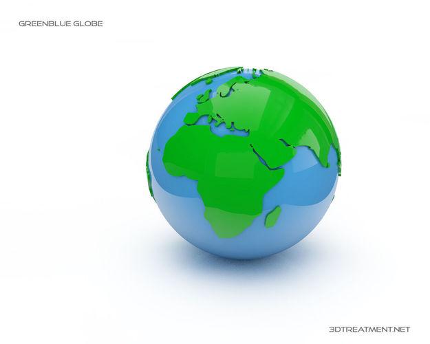 earth globes 3d model obj mtl 3ds c4d 1
