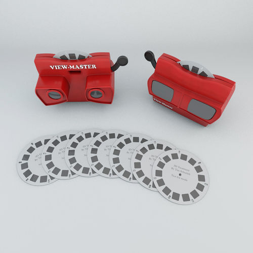 viewmaster  3d model low-poly obj mtl 3ds c4d 1