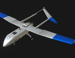 Unmanned aerial vehicle Lipan M3 Military UAV 3D model