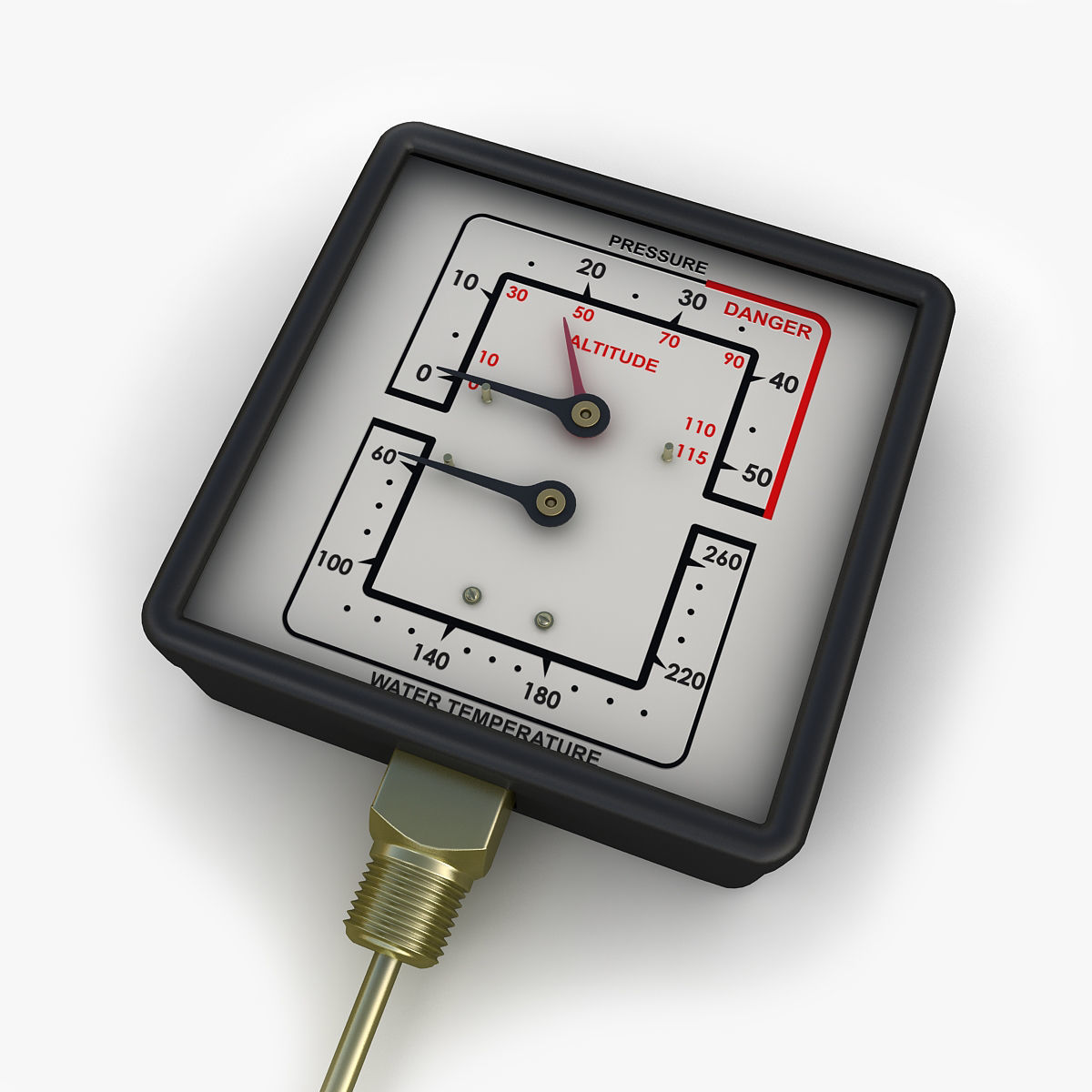 Water and steam pressure gauge