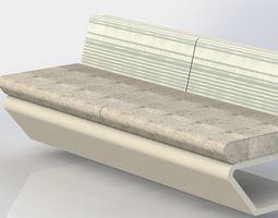 simple bench longues 3D model