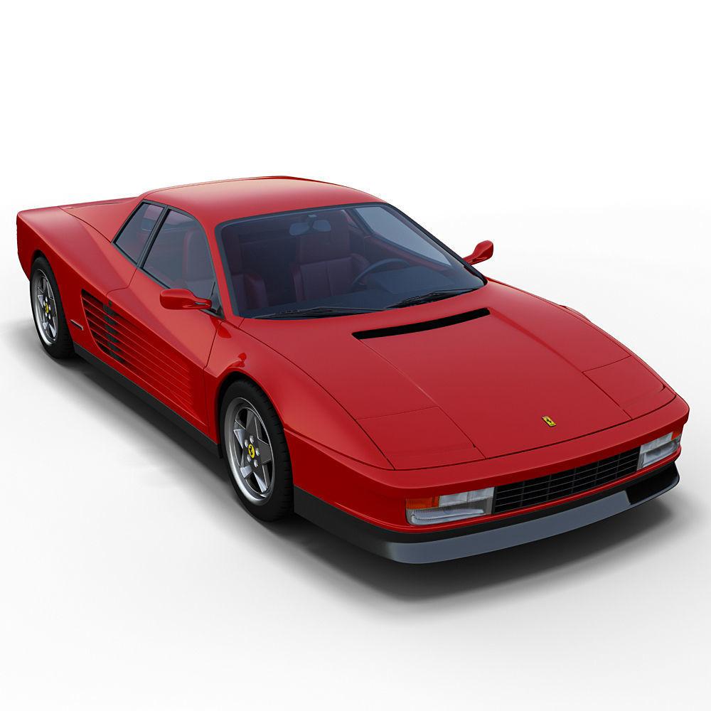 Ferrari Testarossa: Tr 3D Model Ferrari Testarossa