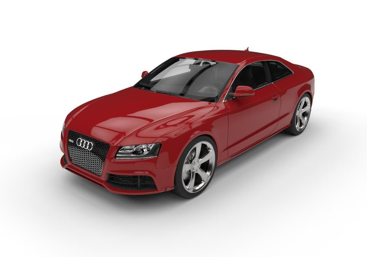 Audi RS5 Coupe c4d vray Low Poly