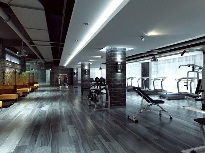 D model wide modern gymnasium cgtrader