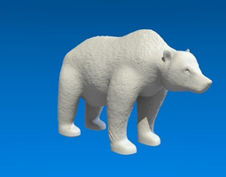 grizzly bear 3d model obj 3ds stl blend dae mtl