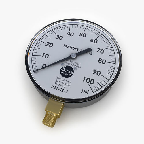 steam pressure gauge 3d model max obj mtl 3ds fbx tga 1