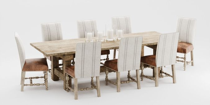 Ralph Lauren English Dining Seat 3D Model