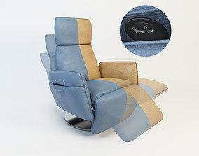 POLTRONA FRAU Pillow armchair - 3 different positions 3D