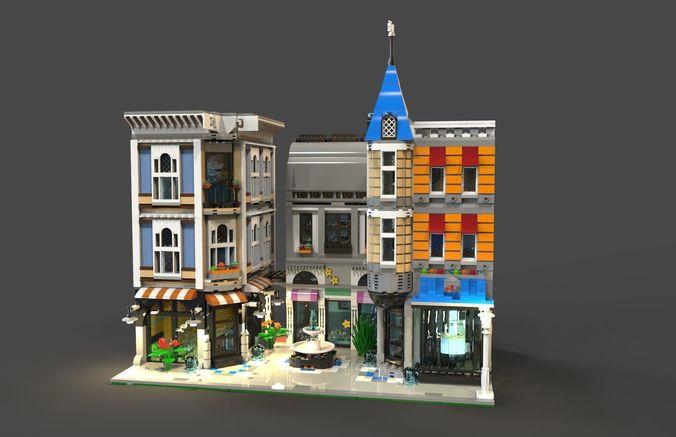 lego area 3d model low-poly obj mtl 3ds fbx c4d 1