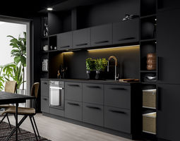 3D model IKEA Kitchen Scene