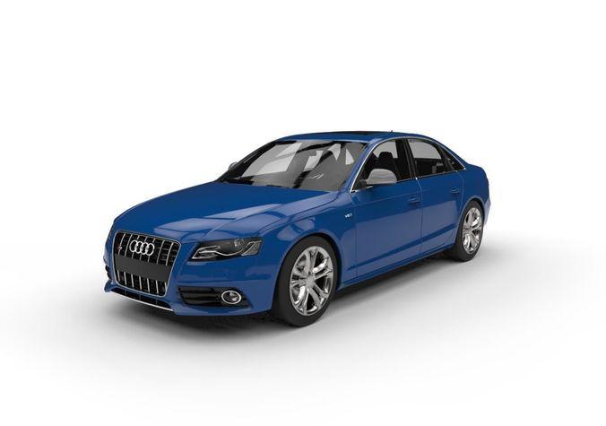 Audi S4 Car C4d Vray Low Poly Model Max Obj Mtl S Fbx Blend