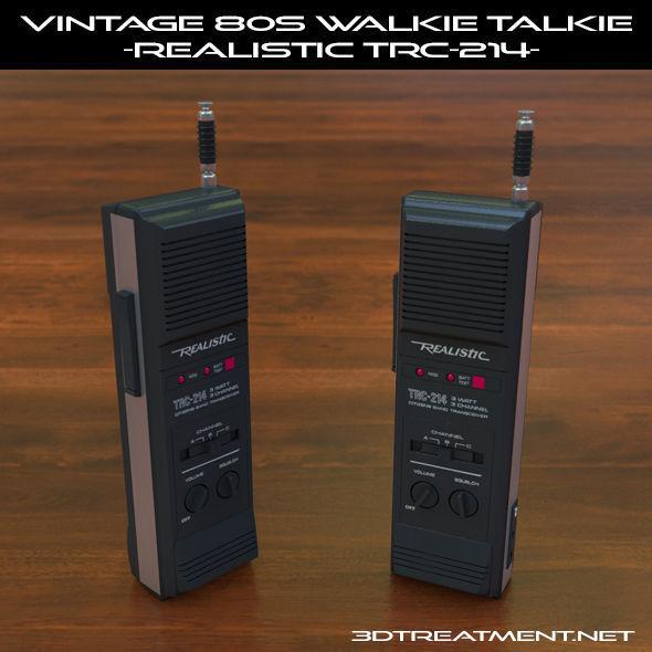 Vintage 80s Walkie-Talkie Realistic TRC-214