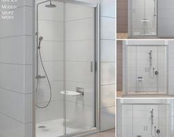 3D Shower doors Ravak Rapier lavatory